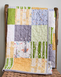 Grey, Green, Yellow Baby Quilt