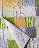 Custom Baby Quilt in Green, Grey, Yellow