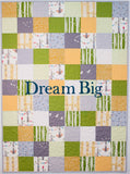 Dream Big Toddler Quilt in Grey, Green, Yellow