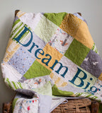 Dream Big Patchwork Baby Quilt