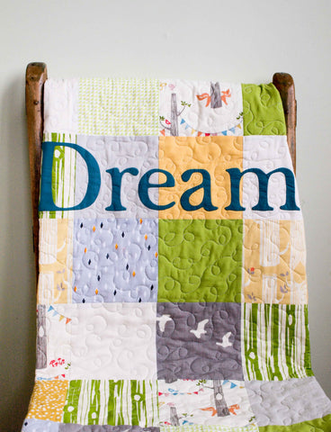 Modern Patchwork Toddler Quilt