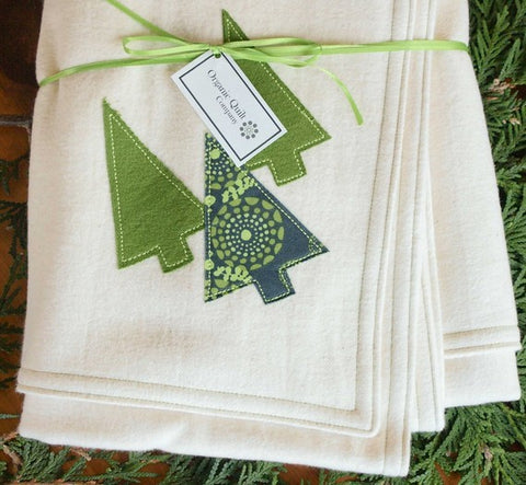 Forest Organic Winter Baby Blanket