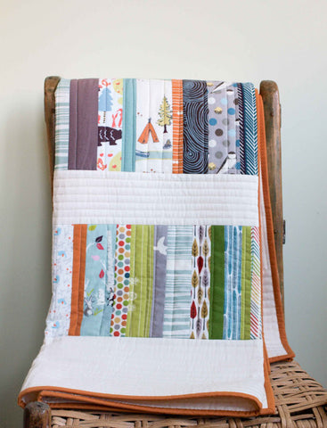 Organic Cotton Woodland Baby Quilt