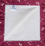 Organic Cotton Flannel Baby Blanket with Butterfly Trim