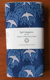 Blue with Grey Birds Burping Pads Set