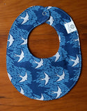 Blue and Grey Drool Bib for Baby Boy or Girl