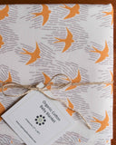 Modern Yellow Birds Organic Cotton Baby Blanket