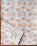 Yellow Birds Organic Cotton Baby Blanket