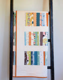 Handmade and Modern Patchwork Toddler Quilt