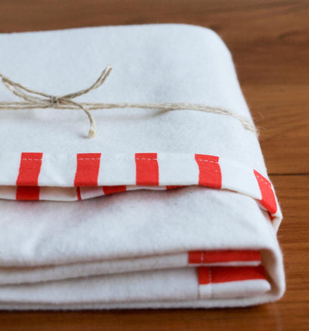 Sailor Stripes Organic Flannel Baby Blanket