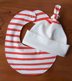 Sailor Stripes Baby Gift Set, Hat and Bib