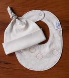 Modern Polka Dot Baby Hat and Bib Gift Set