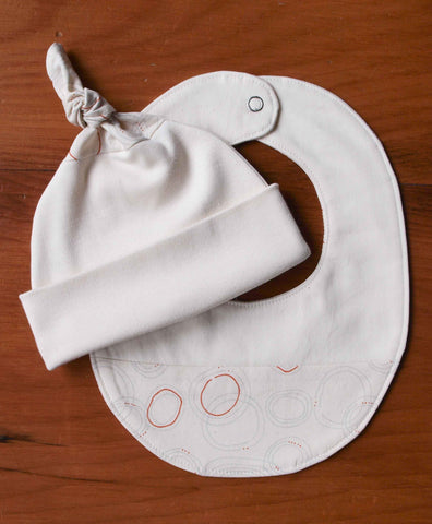 Modern Dots Baby Bib and Hat