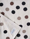 Baby Blanket and Burp Cloths Gift Set, Black and Grey Polka Dots