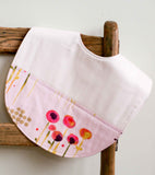 Toddler Feeding Bib, Pink Flowers