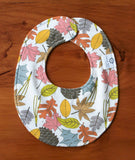 Colourful Leaves, Organic Cotton Baby Bib