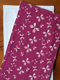 Butterfly baby girl blanket gift, purple and pink