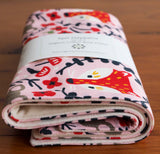 Pink Fox Burp Cloths
