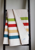Modern Stripes Baby Quilt, Made to Order