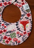 Woodland Animals Teething Bib for Baby Girl
