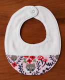 Pink Woodland Baby Bib for Newborn Girl