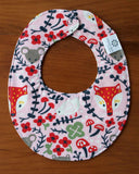 Pink Fox Teething Bib for Baby Girl