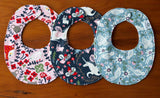 Woodland Teething Bibs for Baby Girl