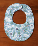 Bluebird Drool Bib for Baby Girl