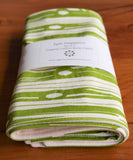 Rustic Wood Green Baby Gift, Burp Cloths Set