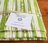Wood Grain Green Baby Blanket