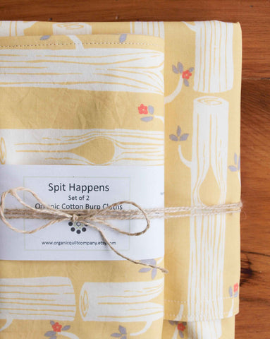 Yellow Baby Blanket and Burp Cloth Gift Set