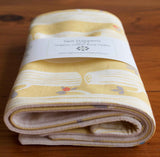 Yellow and Ivory Baby Burp Cloths