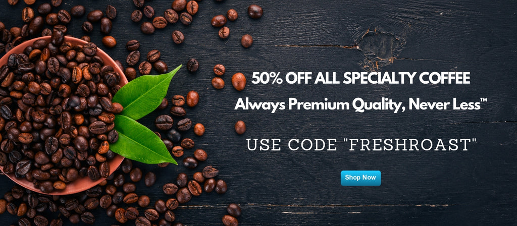 50% off specialty coffee