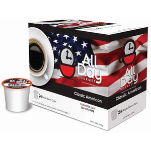 Classic American Roast - Single Cup Capsules - 24 Count All Day Gourmet -
