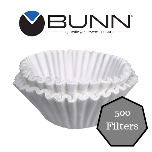 """Bunn 20106.0000 8 1//2/"""" x 3/"""" 8 to 10 Cup Decanter Style Coffee Filter 50//Pack"""
