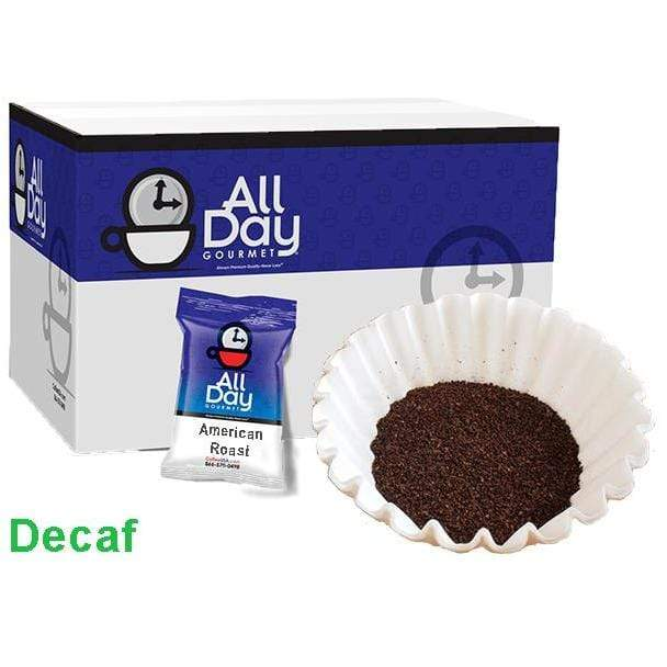 All Day Gourmet Coffee - Classic American Roast DECAF - 1.75oz Pillow Packs