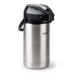 Bunn Airpot - Stainless Steel Liner - 3.0L Capacity Pump Pot - 32130.0000 - Coffee Wholesale USA