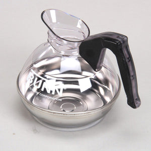 Bunn Easy Pour Coffee Pot - 12 Cup - Plastic with Stainless Bottom, Black Handle, Each - Coffee Wholesale USA