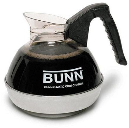 Bunn Easy Pour Coffee Pot - 12 Cup - Plastic with Stainless Bottom, Black Handle, Each