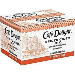 Cafe Delight Spiced Apple Cider - Single Serving Packets - 40ct Box