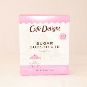 Cafe Delight (sweet thing) Sugar Substitute - Pink Sweetener Packets - 100ct Box **PINK BOX**