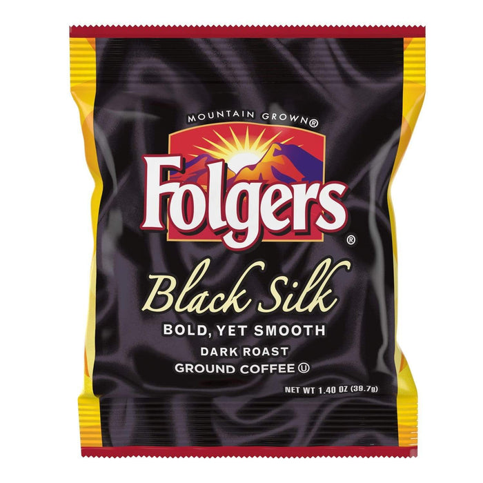 Folgers Coffee - Black Silk (Dark Roast) - 42 - 1.40 oz. Pillow Pack