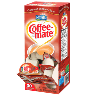 Coffee-mate Liquid Creamer Tubs - Cinnamon Vanilla Crème - 50ct Box