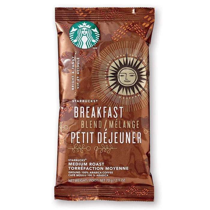 Starbucks Coffee - Breakfast Blend - 2.5oz Pillow Pack - 18ct Box
