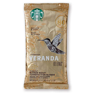 Starbucks Coffee - Veranda Blend (Blonde Roast) - 2.5oz Pillow Pack - 18ct Box
