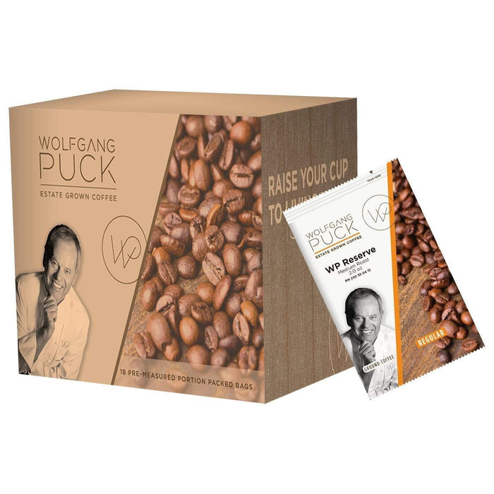 Wolfgang Puck Coffee - 2oz Pillow Packs - WP Chef's Reserve - 18 count box