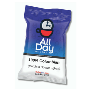 100% Colombian All Day Gourmet 2.25 oz - 36 Count Pillow Pack