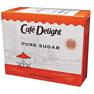 Cafe Delight Sugar Packets - 0.1oz Packets - Retail Box of 100