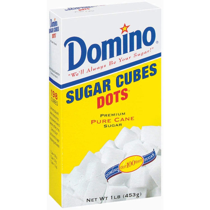 Domino Dots Sugar Cubes - 1 Pound Box (198 Mini Cubes)