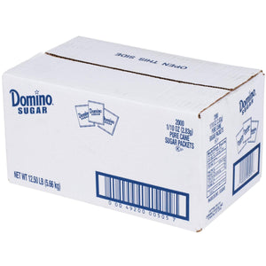 Domino Sugar Packets - 0.1oz Packets - 2,000 Count